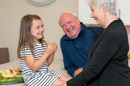 child and grandparents