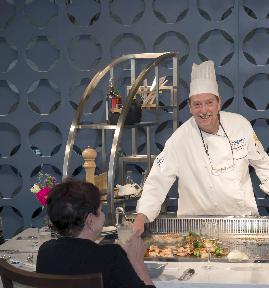 Chef Fournier at Hibachi