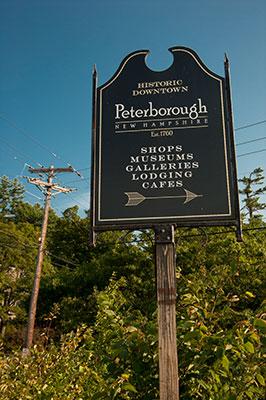 Peterborough NH sign