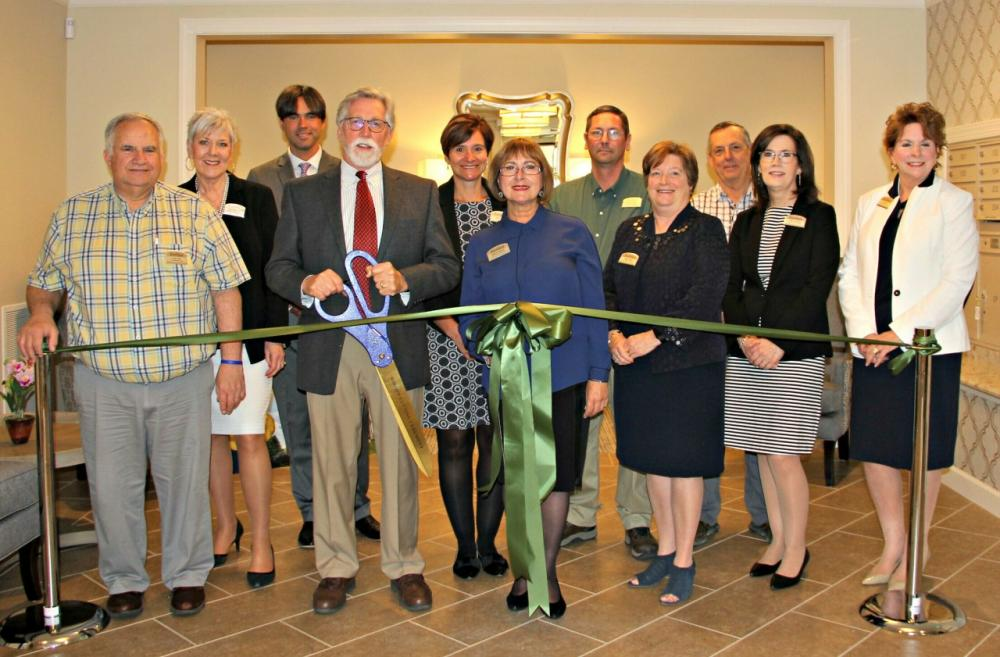 ribbon cutting for Villas Opening at RiverMead